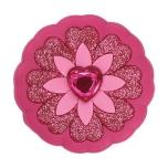 Rhinestone Heart Flower