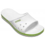 Crocband II Slide White/Volt Green
