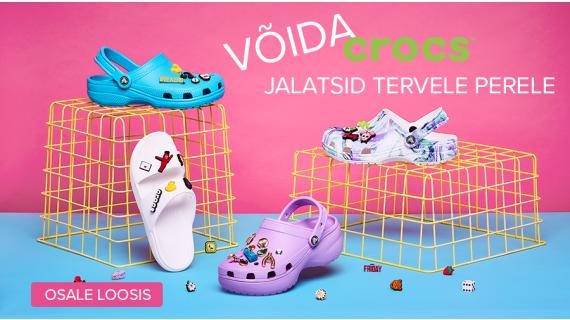 VÕIDA Crocs™ jalatsid ⭐ TERVELE PERELE ⭐