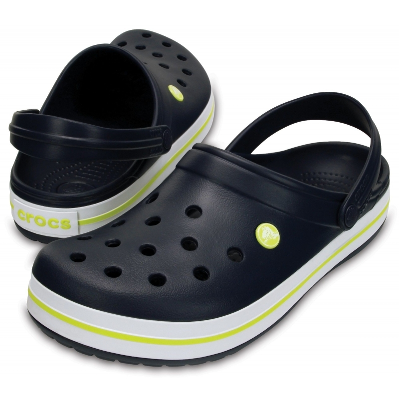 Crocband Clog Navy / Citrus