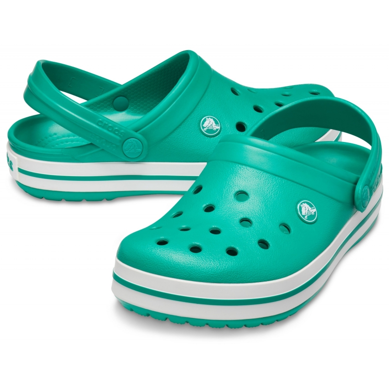 Crocband Clog Deep Green / White
