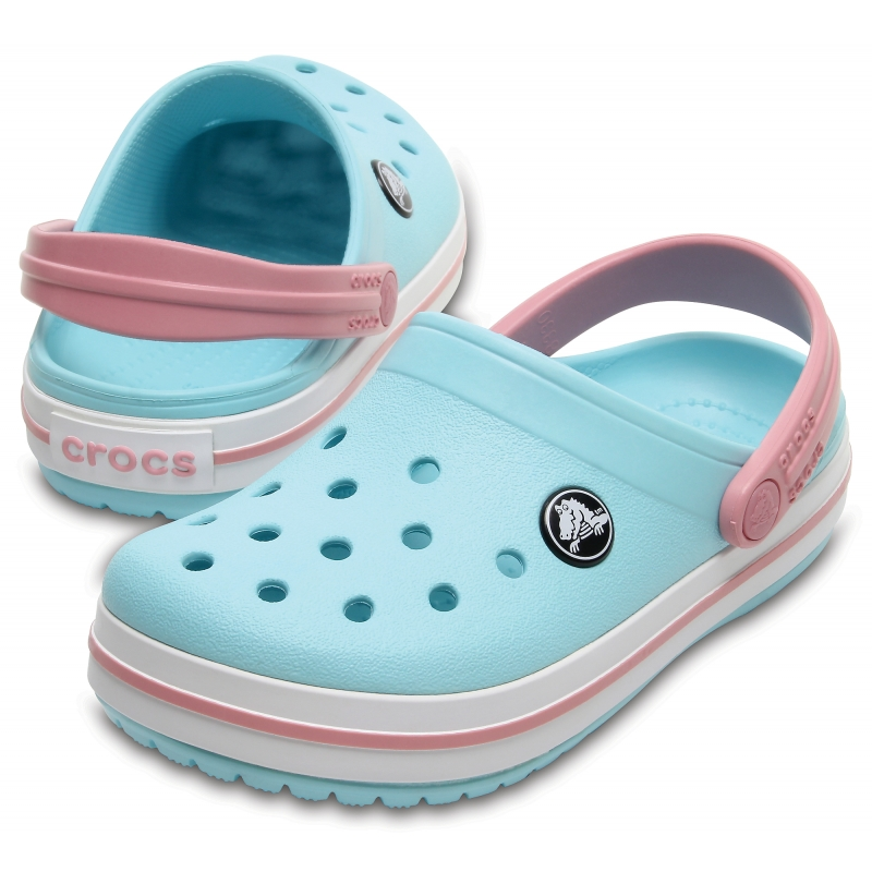 Kids' Crocband Clog Ice Blue/White