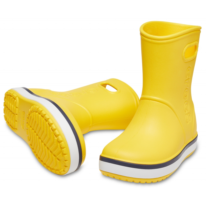 Crocband Rain Boot K Yellow/Navy