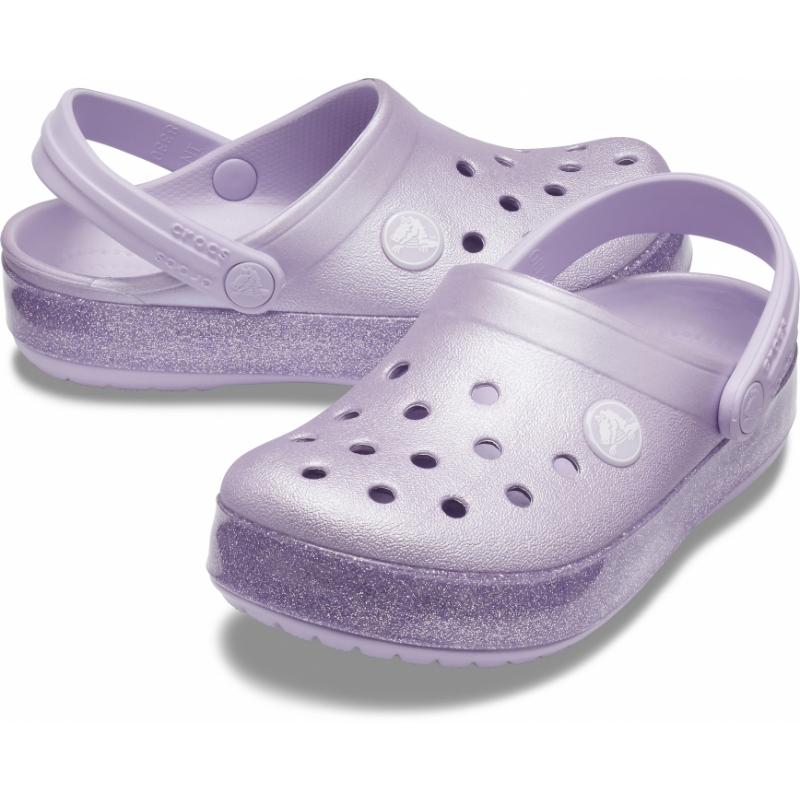 Crocband Glitter Clog Kid's Lavender