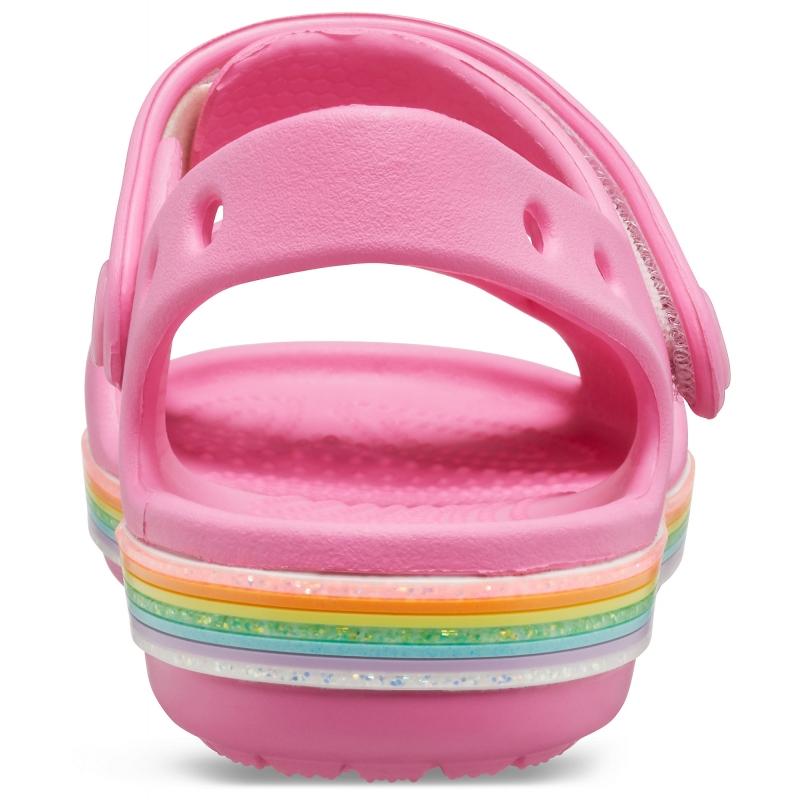 Kids' Crocband Imagination Sandal PS, Pink Lemonade