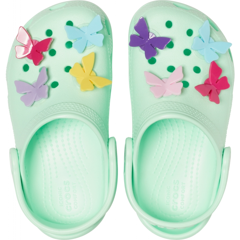 Classic Butterfly Charm Clog PS Neo Mint