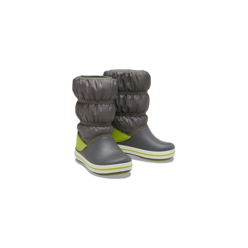Crocs Crocband Winter Boot Slate Grey / Lime Punch