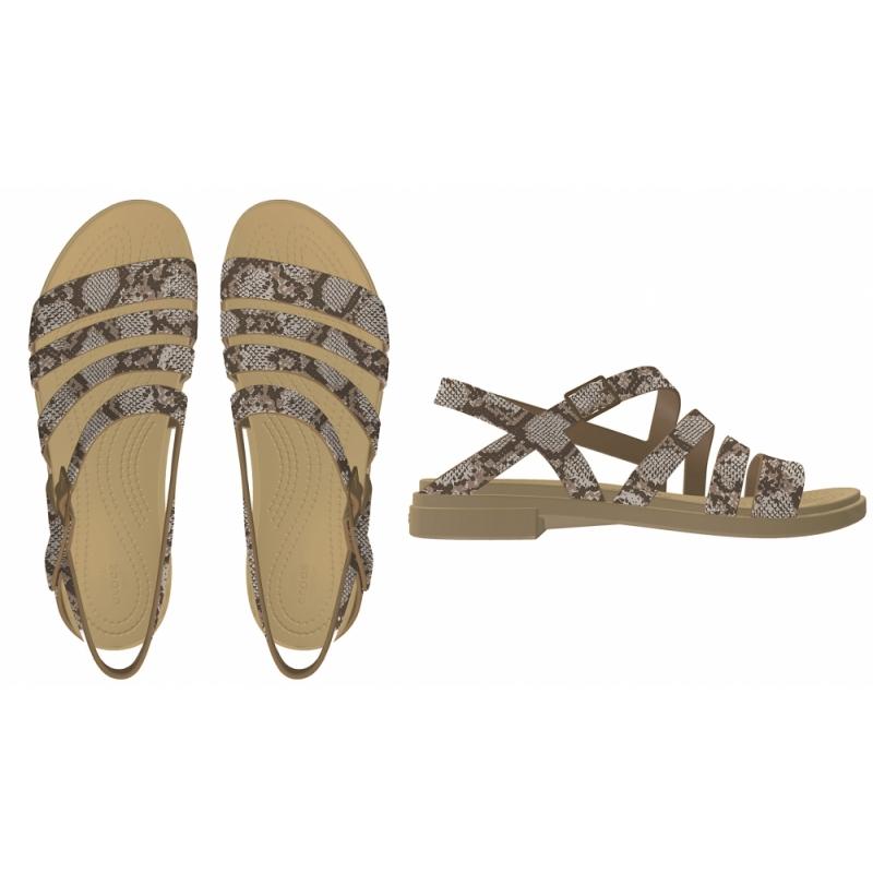 Crocs Tulum Sandal W, Mushroom/Stucco