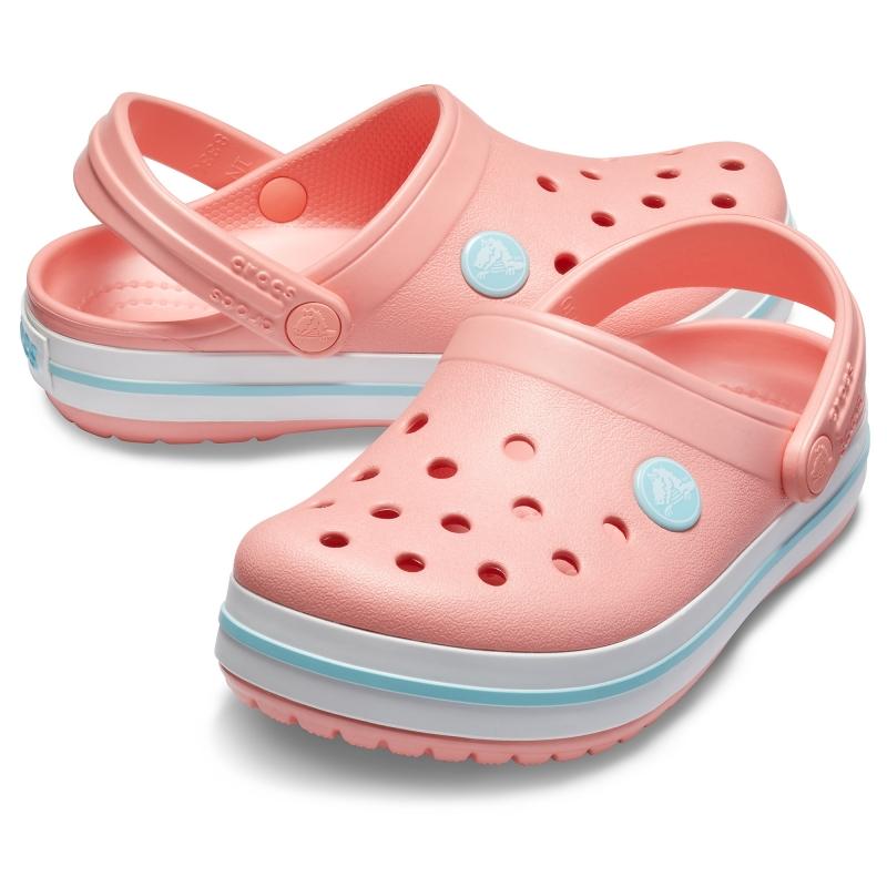 Kids' Crocband Clog Melon/Ice Blue