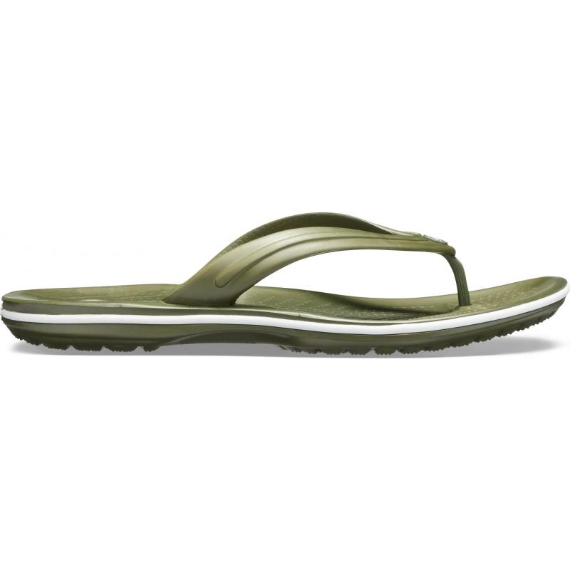 Crocband Flip Army Green / White