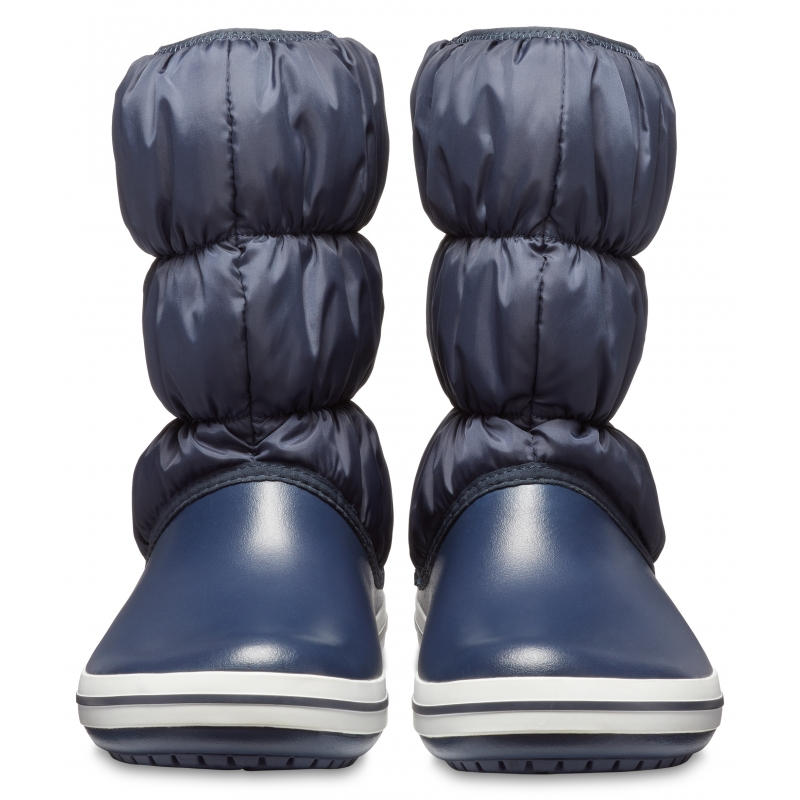 Winter Puff Boot Women Navy/White