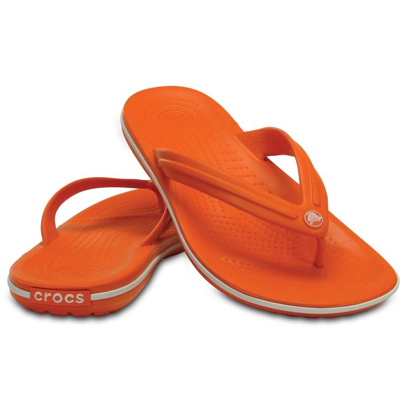 Crocband Flip Orange/White
