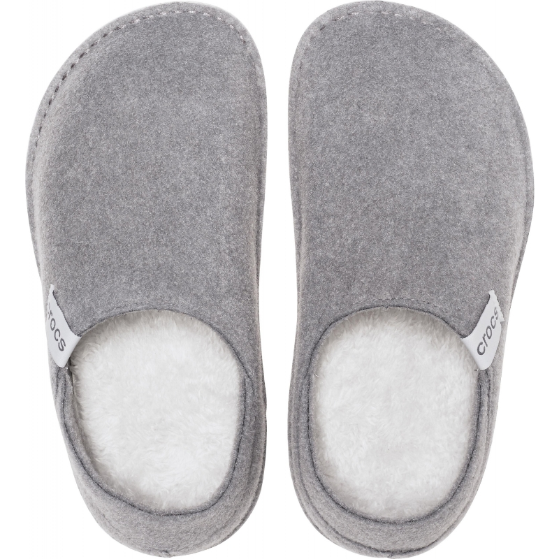 Classic Convertible Slipper Charocal / Pearl White