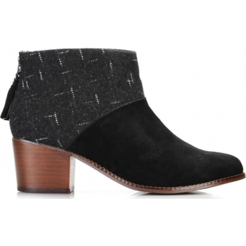 Wool Women`s Leila Bootie Black/Dotted