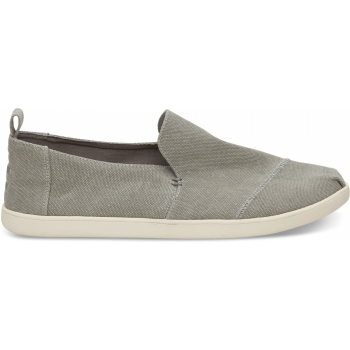 Washed Canvas Men`s Deconstructed Alpargata Drizzle Grey
