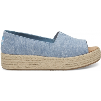 Chambray Women`s Open Toe Platform Alpraga Blue