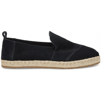 Suede Women`s Deconstructed Alpargata Black