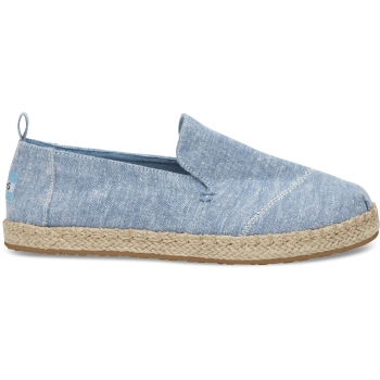 Slub Chambray Women`s Deconstructed Alpargata Blue