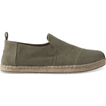Washed Canvas Men`s Deconstructed Alpargata Olive