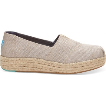 Yarn Dye Women`s Platform Alpargata Natural