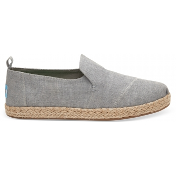 Slub Chambray Women`s Deconstructed Alpargata Dizzle Grey
