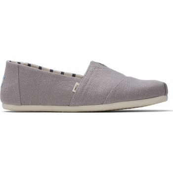 Morning Dove Heritage Canvas Men`s Alpargata Grey
