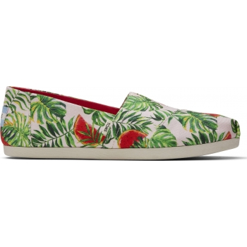 Watermelon Palms Print Women`s Alpargata Pink