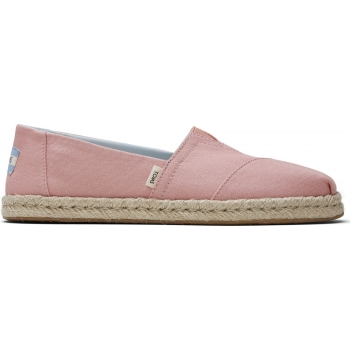 Plant Dyed Canvas Rope Women`s Alpargata Pink