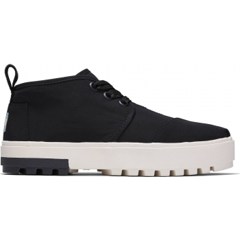 Utility Twill Womans Botas Lug Sneaker Black