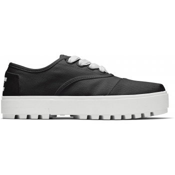 Canvas Women`s Cordones Lug Sneaker Black