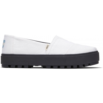 Canvas Women`s Alpargata Lug Slip-On White