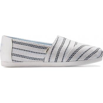 TOMS Textured Stripe Women's Alpargata White Multi