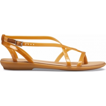 Crocs Isabella Gladiator Sandals Dark Gold/Gold