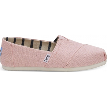 TOMS Heritage Canvas Women's Alpargata Powder Pink