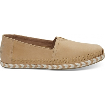 Leather Rope Sole Women`s Alpargata Honey