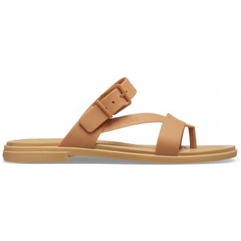 Crocs Tulum Toe Post Sandal W, Dark Gold