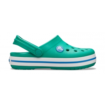 Kids' Crocband Clog Deep Green/Prep Blue