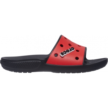 Classic Crocs Colorblock Slide Black/Flame