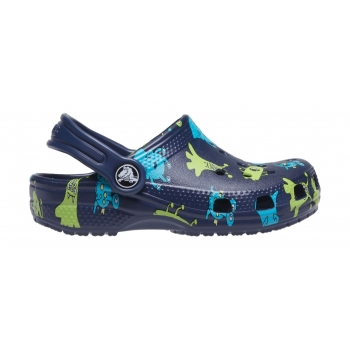 Classic Monster Print Clog T Navy