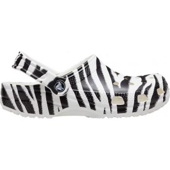 Classic Animal Print Clog White / Zebra Print