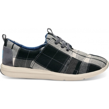 Plaid Women`s Del Rey Sneaker Black/White