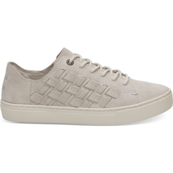 Suede Basketweave Lenox Sneaker Birch