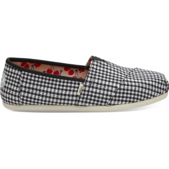 Gingham Women`s Alpargata Black