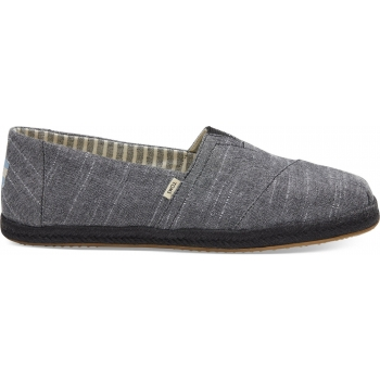 Chambray on Mono Rope Men`s Alpargata Black
