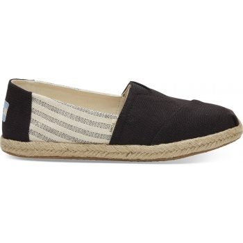 Canvas Ivy League on Rope Women`s Alpargata Black