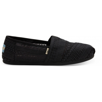 Arrow Mesh Women`s Alpargata Black/Black