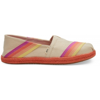 Canvas Multi Color Sunset Women`s Alpargata Natural