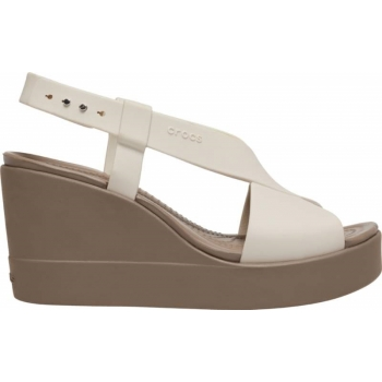 Crocs™Brooklyn High Wedge Stucco/Mushroom