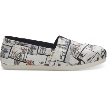 Starwars At Print Women`s Alpargata 3.0 White