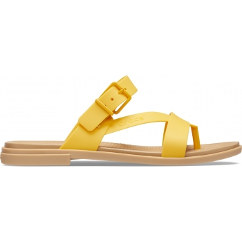 Crocs Tulum Toe Post Sandal W, Canary/Tan